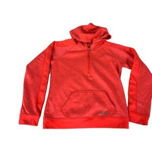 Under Armour Boy's Cold Gear 1/4 Zip Front Pocket Hoodie Size M